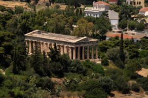 The best preserved temple in the Ancient Agora.