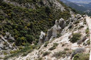 Climbing on Mount Zeus.