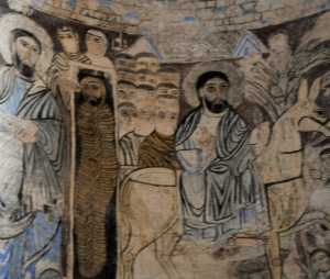 Inside the church: Christ entering Jerusalem