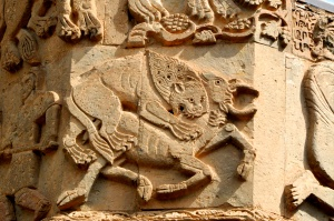 Lion eating a deer. Is this allegory?