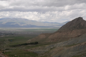 The view from the Ishak Pasha Palace. Once more, the Silk Road to nearby Persia