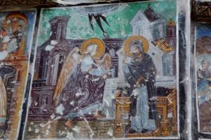A new Annunciation fresco. Note the Renaissance churches.