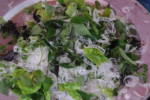 Salad with Banana Greens