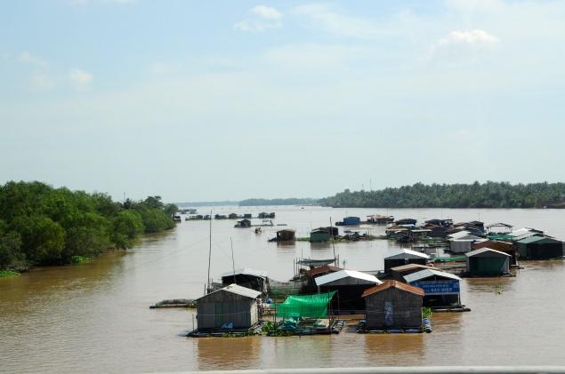 First of Many Fish Farms Along the Mekong