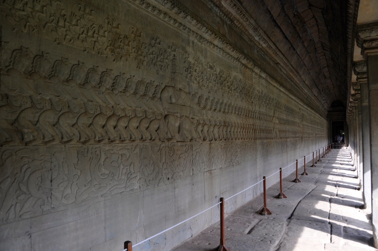 One Wall of the Long Relief