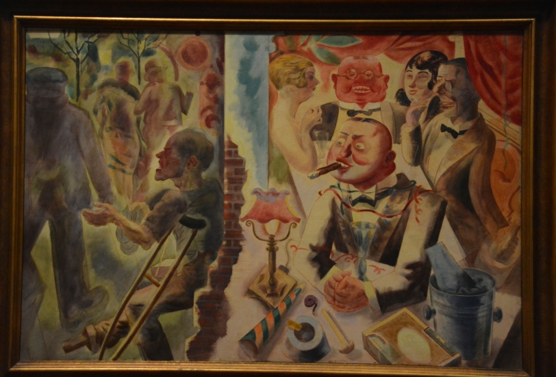 George Grosz, inside and outside, 1926